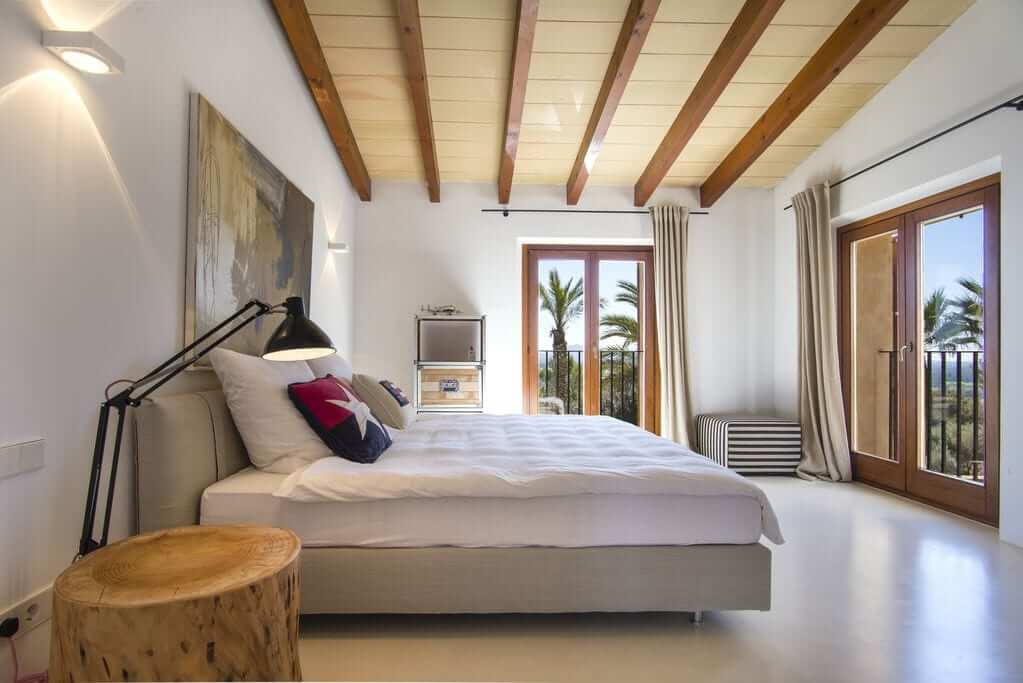 Schlafzimmer in der Finca für Hochzeiten auf Mallorca