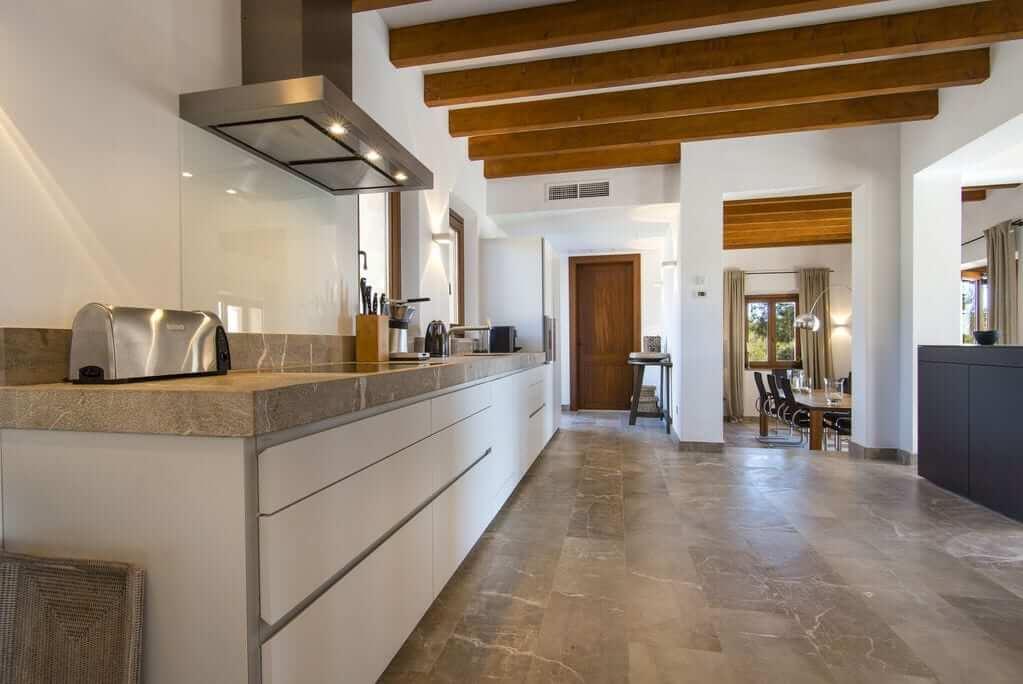 Große Küchew auf der Hochzeits-Finca Mallorca