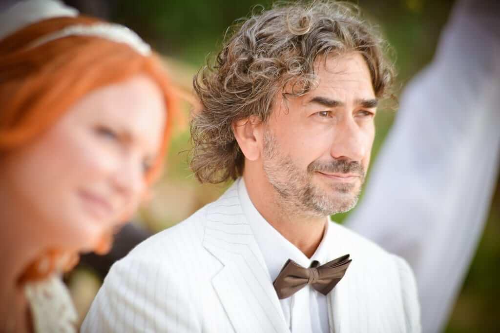 Glückliches Paar auf der Hochzeits Finca auf Mallorca